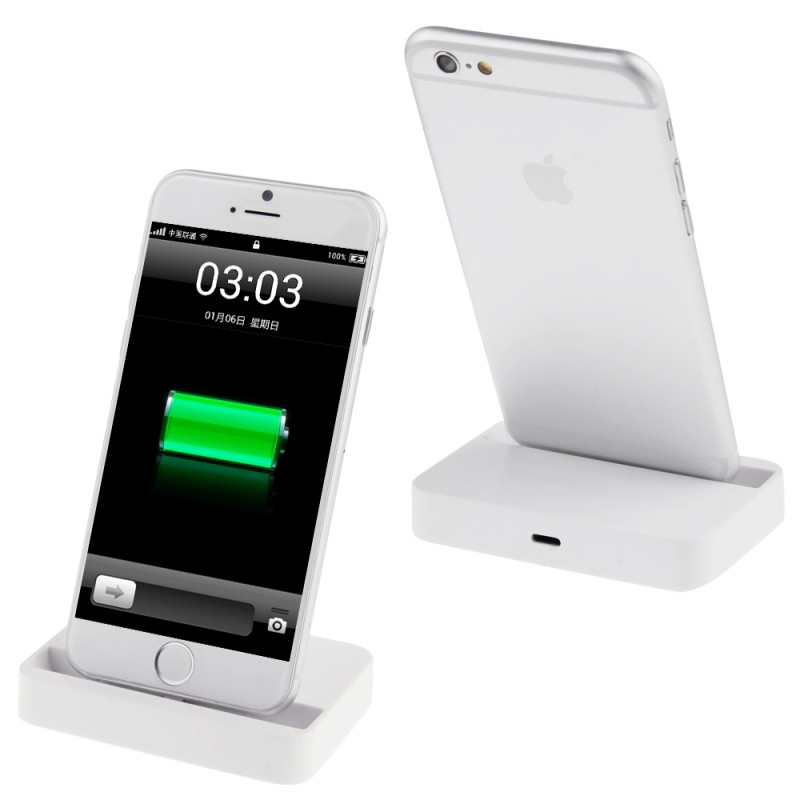 chargeur dock pour iphone 6 et 6 plus blanc alpinstore. Black Bedroom Furniture Sets. Home Design Ideas