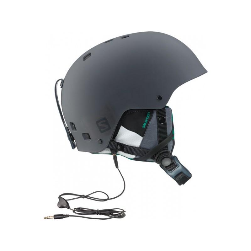 casque de ski brigade audio grey forest green salomon ebay. Black Bedroom Furniture Sets. Home Design Ideas