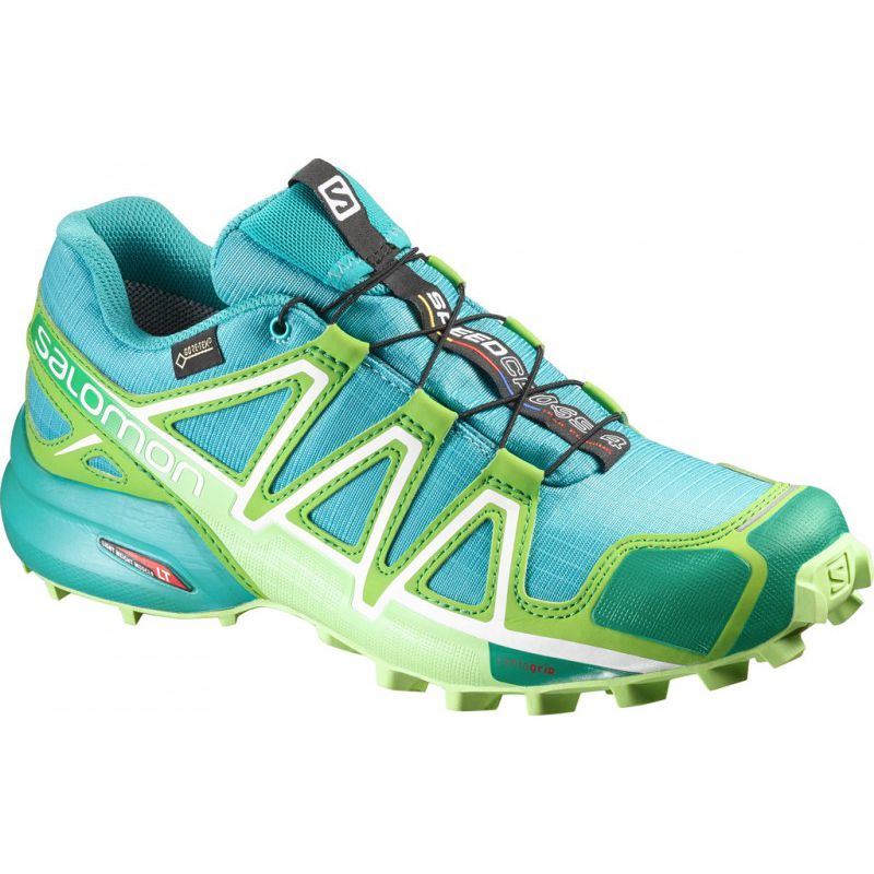 chaussure trail speedcross 4 gtx w teal salomon femme alpinstore. Black Bedroom Furniture Sets. Home Design Ideas
