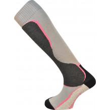 Chaussettes de ski Fusion Monnet rose