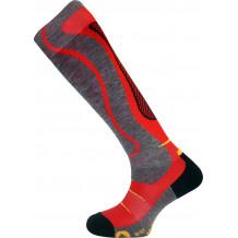 Backside ski socks Monnet red