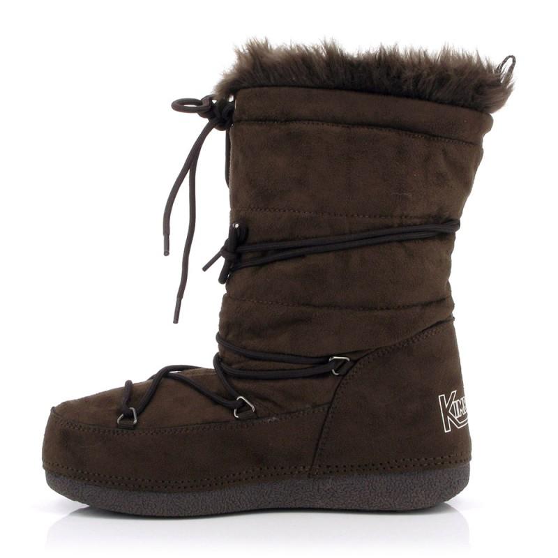 boots neige enolie kimberfeel femme marron alpinstore. Black Bedroom Furniture Sets. Home Design Ideas