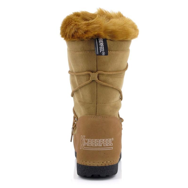 boots neige enolie kimberfeel femme beige alpinstore. Black Bedroom Furniture Sets. Home Design Ideas